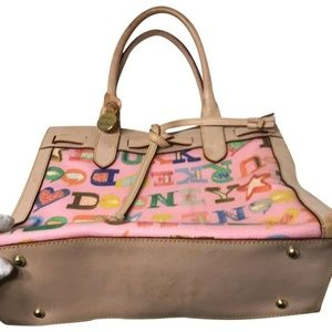 DOONEY & BOURKE pink Coated Canvas, Leather Trim H
